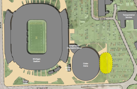Proposed location of BB practice facility