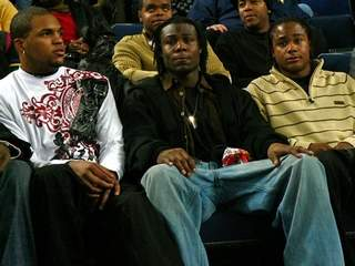 2009 Michigan football recruits Jeron Stokes and Jeremy Gallon, with Wide Receiver Darryl Stonum