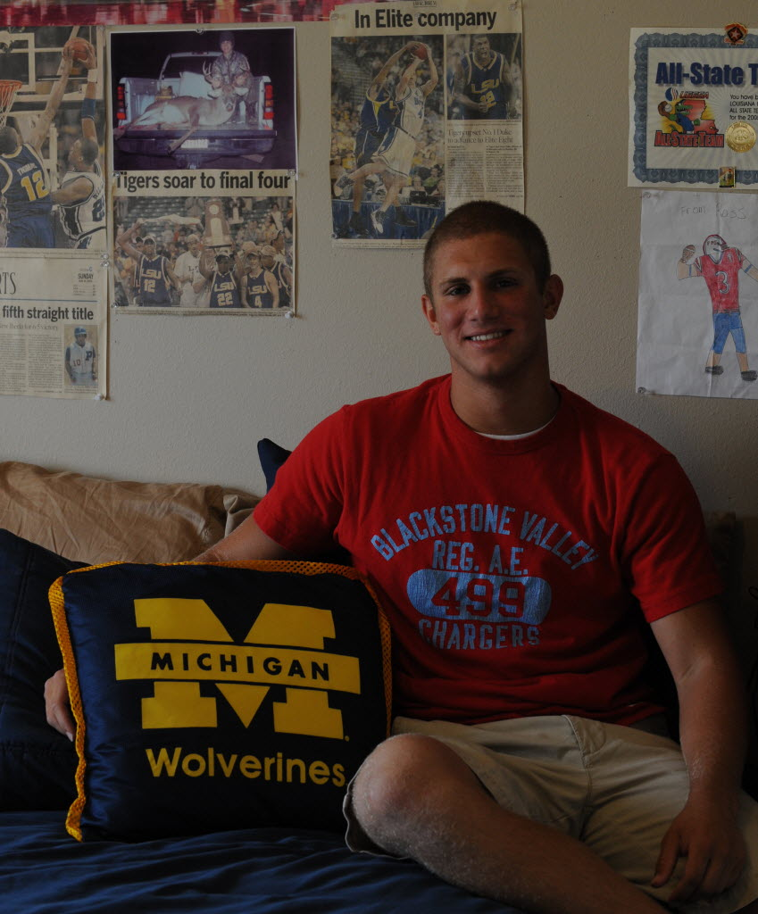 2010 Michigan Wolverine Drew Dileo